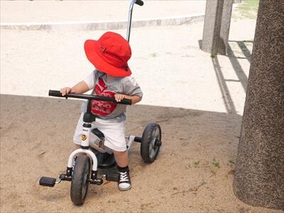 三輪車の練習