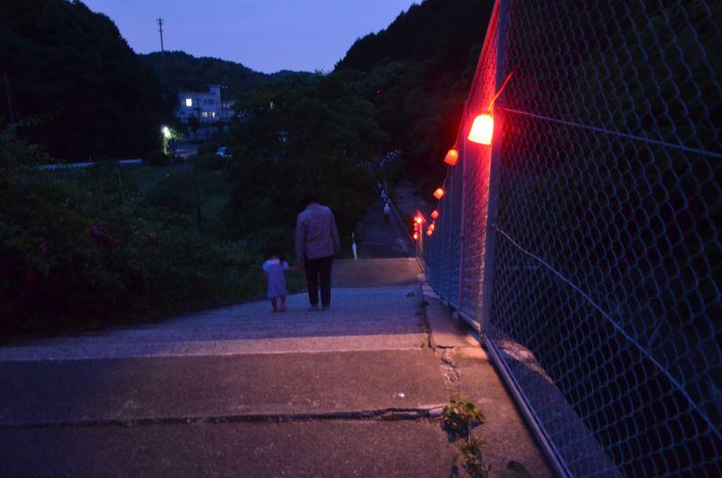 牛頸ダムの階段