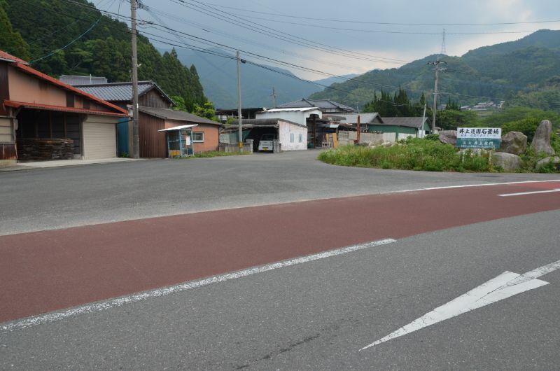 瑞梅寺川橋付近の駐車スペース