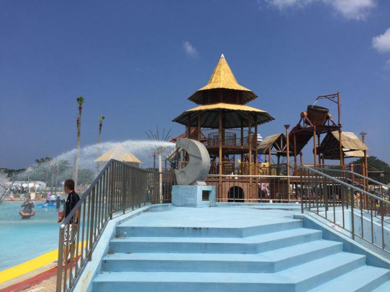 海の中道の幼児プールの噴水