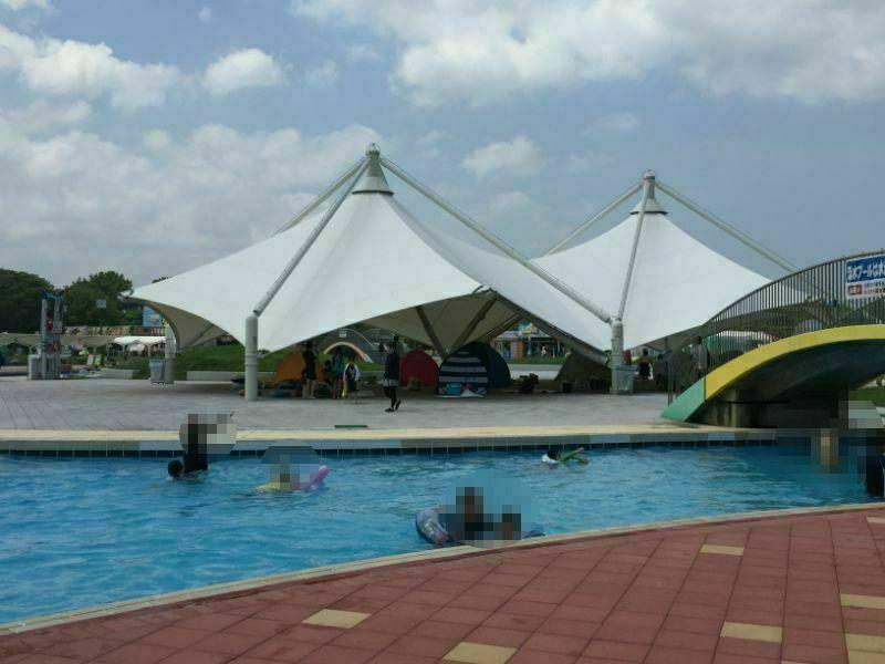 サンシャイン流水プールテント設置場所