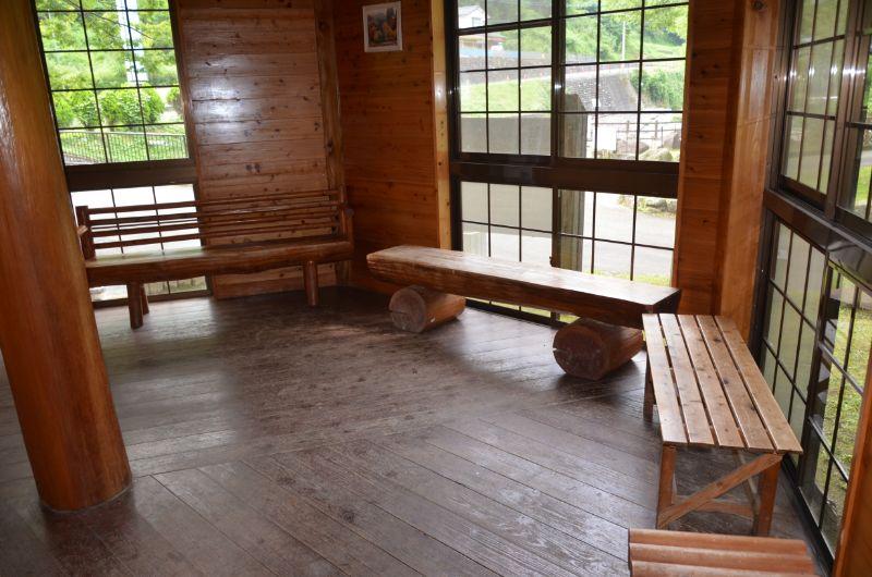棚田親水公園の休息室