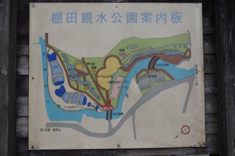 棚田親水公園のマップ