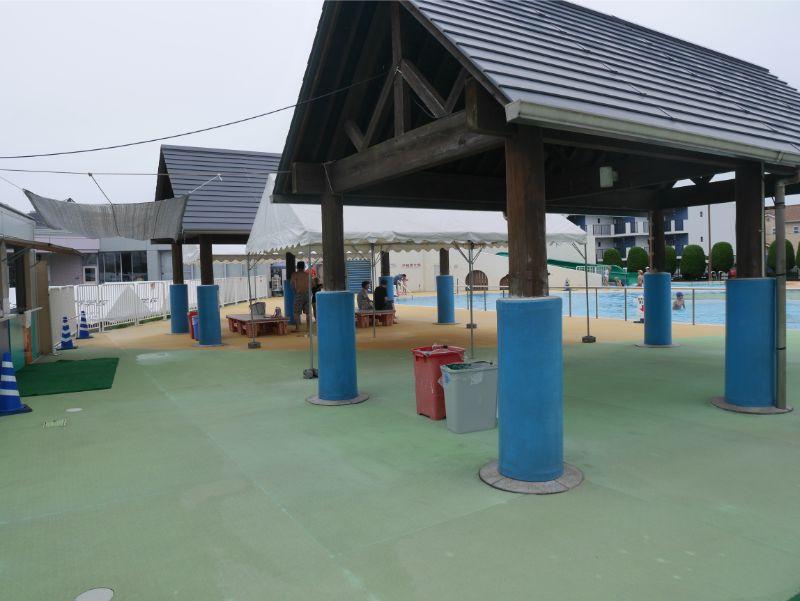 太宰府市民プールの休憩所