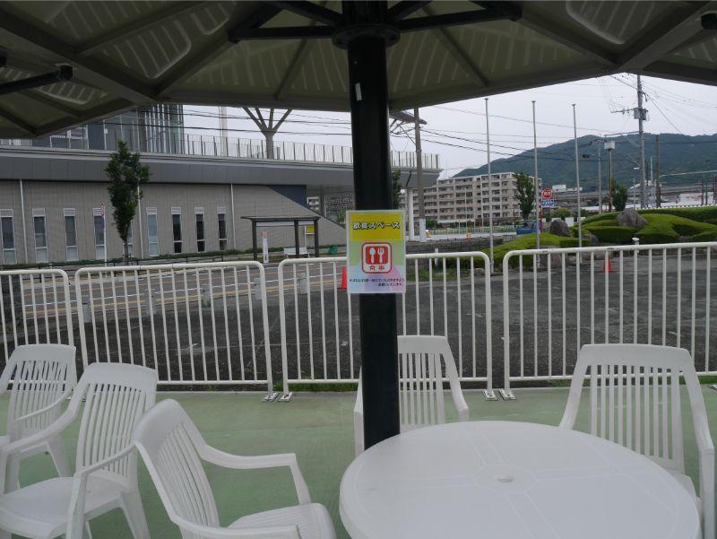 太宰府市民プールの飲食スペース