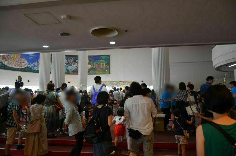 福岡サンパレスしまじろうコンサート入場時の混雑状況