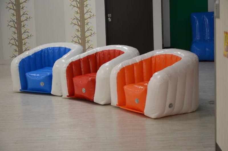 ジャイアントスタジアムのふわふわパーク休憩椅子