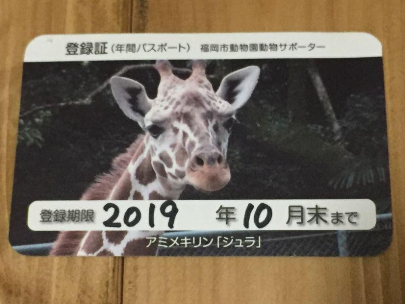福岡市動植物園の年間パスポート