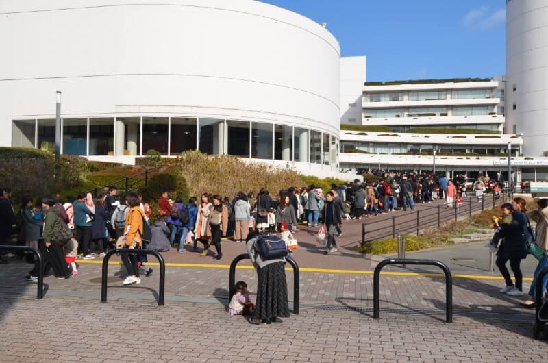 福岡サンパレスのしまじろうコンサート開場前の様子
