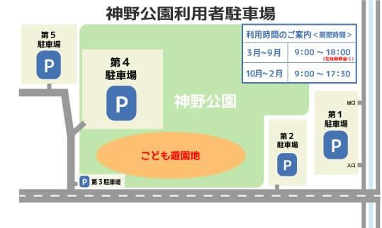 神野公園こども遊園地の駐車場